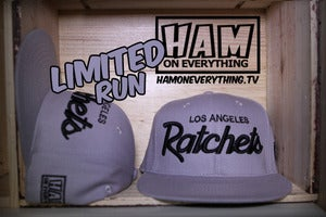 Image of LA RATCHETS SNAPBACK (grey/grey) *LIMITED*