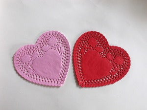 Image of Heart Paper Doilies
