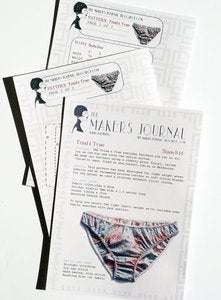 Image of The Makers Journal Tried and True Knicker Lingerie Sewing Pattern
