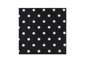 Image of Black Polka Dot Napkins
