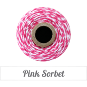Image of Pink Sorbet - Pink &amp; White Baker's Twine 