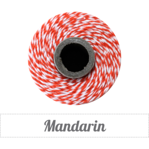 Image of Mandarin - Orange & White Baker's Twine