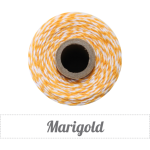 Image of Marigold - Golden Yellowy Orange & White Baker's Twine
