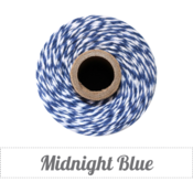Image of Midnight Blue - Navy &amp; White Baker's Twine 