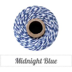Image of Midnight Blue - Navy & White Baker's Twine