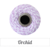 Image of Orchid - Light Purple &amp; White Baker's Twine