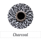 Image of Charcoal - Black &amp; White Baker's Twine