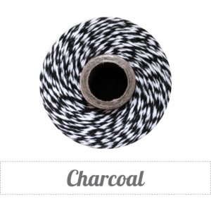 Image of Charcoal - Black & White Baker's Twine