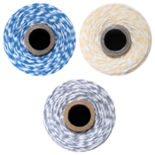 Image of  Color Trio - 3 FULL SPOOLS - DENIM, BUTTERCREAM &amp; STONE