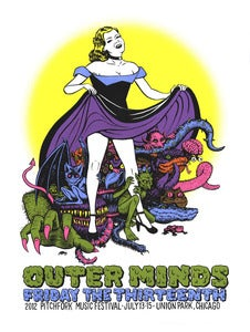 Image of Outer Minds Gig Poster