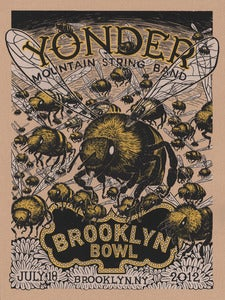Image of YMSB Brooklyn Bowl Gig Poster