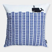 Image of Whale cushion in Delft Blue