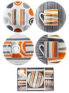 Image of Backgammon Porcelain - Espresso Set