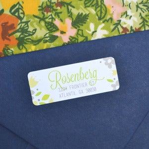 Image of Family Flowers Return Address Labels