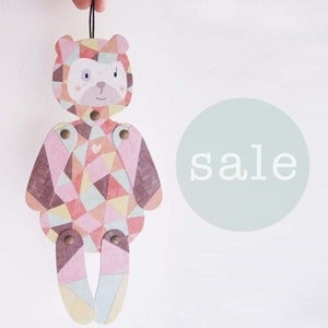 Image of ••● SALE ●•• Luisa bear, articulated paper animal