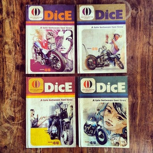 Image of DICE ISSUE 45. ALL 4 COVERS PACK.