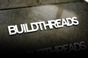 Image of Build Threads sticker - WHITE