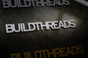 Image of Build Threads sticker - SILVER