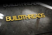 Image of Build Threads sticker - GOLD