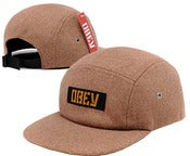 Image of NEW! OBEY Propaganda Text Box Logo Wool Camp Hat Collection