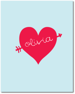 "Image of ""Love Struck"" Personalized Prints"