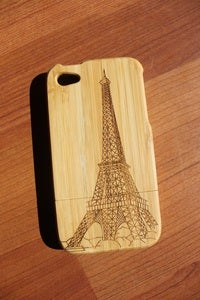 Image of The Eiffel tower wooden bamboo case for iPhone 4