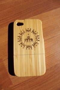 Image of Deer wooden bamboo case for iPhone 4