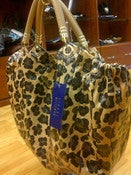 Image of Stuart Weitzman Leopard Print Tote
