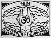 Image of 'Aum' Lino Print