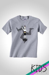 Image of The #rCav Limited Edition Kids Cycling T-Shirt Light Grey