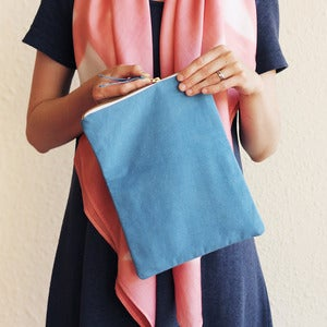 Image of Organic Cotton Clutch - Indigo