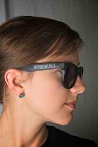 "Image of ""POP PUNK NOT PILLS"" Sunglasses"