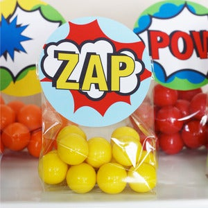 Image of Printable Superhero Favor/Treat Bag Toppers- Superhero Collection