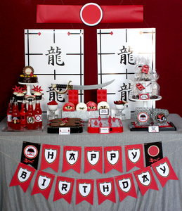 Image of Printable Ninjago/ Ninja- FULL Birthday Party Collection