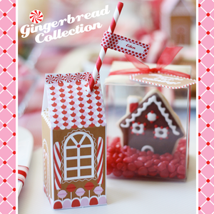 Image of Printable Gingerbread House Wonderland Collection-- great for a gingerbread decorating party