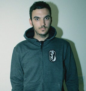 Image of Stitched Up Unisex Charcoal/black 'COKE' Hoody