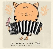 Image of ACCORDION CAT print