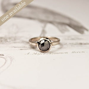 Image of 18ct white gold, black diamond ring {No.5, SOLD}