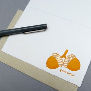 Image of grow some letterpress card