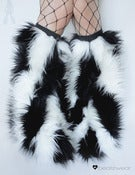 Image of Striped fluffies black and white