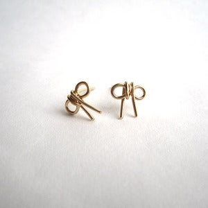 Image of bow post earrings