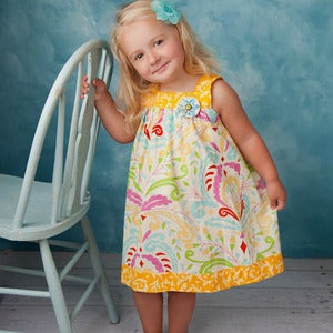 Image of Square Neck Top and Dress Pattern - Girls Dress or Jumper