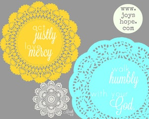 Image of Hope for Sudan- doily sunshine