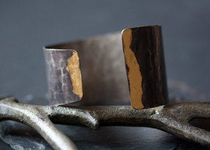 Image of Asymmetrical Keum Boo Cuff Bracelet