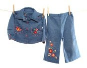 Image of Baby Vintage Embroidered Denim 2 Piece