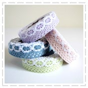 Image of Pretty Lacey Pastels - Fabric Tape
