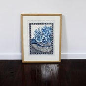 Image of Indigo Floral 1 - watercolour original