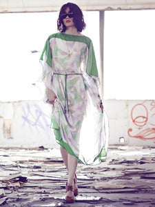 Image of Water Color Crystal kaftan (Green)