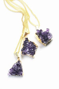 Image of Miniature GLORIOUS Amethyst pendant