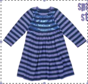 Image of Sequin Striped Dress